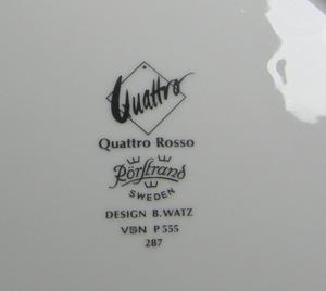 Kaffekoppar och fat, 2 st, Quattro Rosso, BW