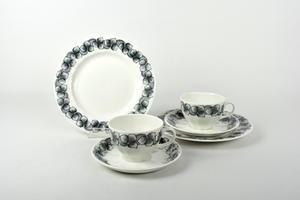 Kaffekoppar, fat och assietter, 2 st, Rinki, ET