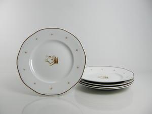 Tallrikar, 5 st, flata, Orient