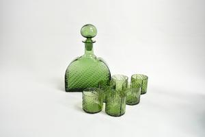 Karahvi+lasit 6 kpl, Flindari, vihreä, NS
