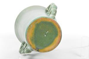 Vas, grön, keramik