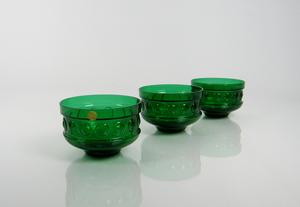 Efterättskålar, 3 st, Kehrä, grön, TA