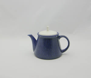 Teekannu, Sininen,  valkea kansi
