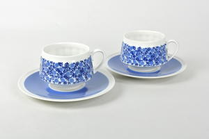 Kaffekoppar och fat 2 st, Doria, RU