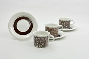 Kahvikupit  ja aluslautaset, 3 kpl, Faenza, IL