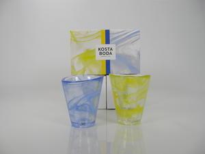 Lasit 2 kpl, Mine, Blue ja Yellow, UHV