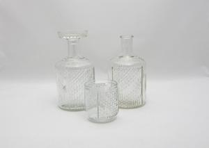 Karaffer 2 st + glas, Flindari, Klar, NS  (SÅLD)