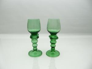 Vitvinglas, 2 st, Remmare, grön