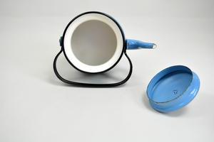 Kahvipannu 1,0 l, emali, Lehvä, Finel (MYYTY)