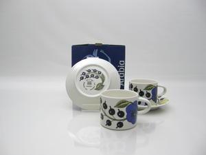 Kaffekoppar och fat, 2 st, Paratiisi, BK