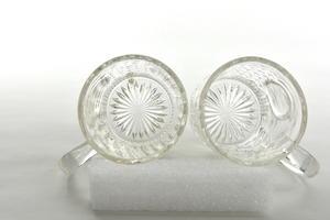 Mugg /Seider 2 st, klar pressglas