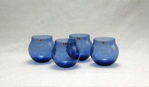 Konjakkilasit, 4 kpl, Aromapallo,  I-102 lasi, sininen TS