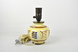 Pöytälamppu, Käsinmaalattu,