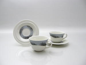 Kaffekoppar och fat, 2 st, Havsvind, HLS
